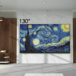 LG's 130″ display provides a real life immersive experience